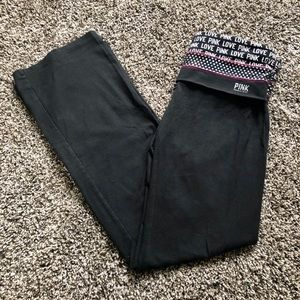 Victoria's Secret PINK Black Boot Cut Yoga Pants!!
